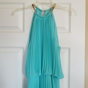 MSK floor length dress in aqua